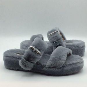 UGG Classic Fuzz Yeah Grey Slide Slippers